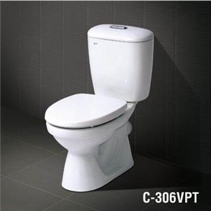Bàn cầu 2 khối C-306VPT (Nắp thường)